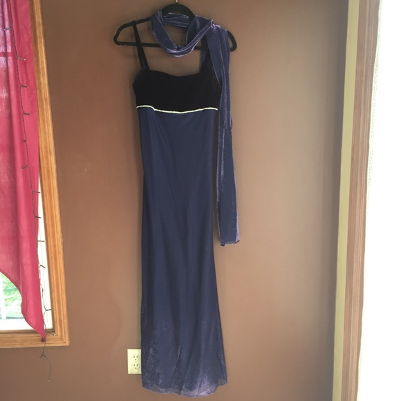 Jump Dresses & Skirts - Periwinkle & Purple Long Dress and Scarf